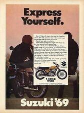1969 Suzuki T500 Ii Titan Motorcycle Express Yourself Print Ad