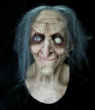 Gray Hag Evil Eye Old Woman Witch Latex Adult Halloween Costume Mask