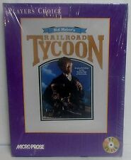 Vintage Sid Meier's Railroad Tycoon, MicroProse in Box (1995, PC CD-ROM,DOS) NEW