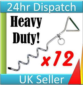 Bouncy castle Stake x 12 Screw in peg kit Fast Dispatch