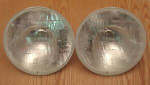 1955 1956 1957 CHEVY HEAD LAMP HEADLIGHT BULBS Pair Sealed Beam
