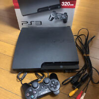 [w/BOX] SONY PlayStation 3 320GB Charcoal Black CECH-3000B console from Japan