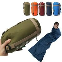 Envelope Sleeping Bag Camping Travel Hiking Ultra-light Waterproof Fleabag NEW