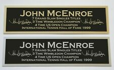 John McEnroe nameplate for signed autographed tennis ball photo racket or case