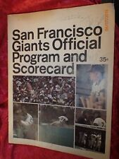 1972 San Francisco GIANTS Program Autographed by Marichal, Bonds, Speier