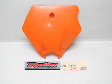 2007 KTM 250 XCF Front Cover Number Plate