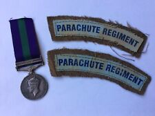 More details for ww2 army air corps gsm medal palestine 1945-48 + para flashes - pte j throup aac