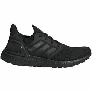 Adidas Men's Ultra Boost 20 Shoes - NEW - FREE SHIPPING - TRIPLE BLACK EG0691+