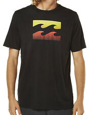 "NEW + TAG BILLABONG MENS (L) ""SUPER WAVE"" SURF T-SHIRT TEE BLACK REGULAR FIT"