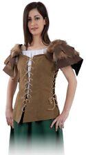 VESTE Fourrure Médiévale M 40 Déguisement Femme Tavernière Servante Viking