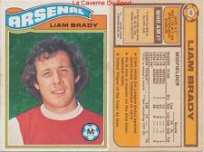 010 LIAM BRADY # IRELAND ARSENAL.FC CARD PREMIER LEAGUE TOPPS 1978