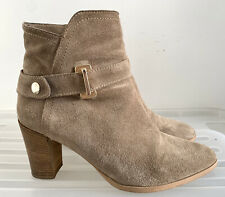 MILANA Leather Ankle Boots Heels Size 38 (7) #16879
