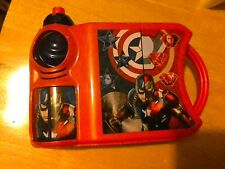 Marvel Captain America & Avengers CHILDRENS Lunch Box & Sports Bottle School Set