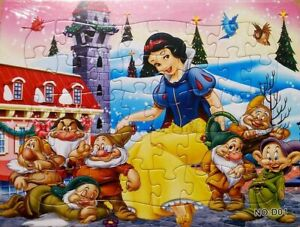 Disney 40 Pieces Jigsaw Puzzles Princess Snow-White Drawing Best Gift for Kids