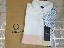 Fred Perry Amy Winehouse Bowling Shirt Blouse Size 8 Style Sg6705