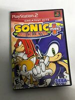 Sonic Mega Collection Plus - Playstation 2 Game Complete Tested 100% Working