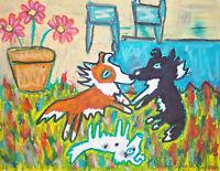 Shelties Wanna Dance Art Print 8x10 Dog Collectible by Kimberly Helgeson Sams