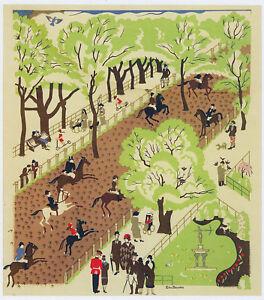 Hyde Park Edward Bawden poster design in 11 x 14 mount ready to frame SUPERB