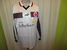 """Eintracht Frankfurt Puma Langarm Auswärts Spieler Trikot 1998/99 """"Viag"""" Gr.L TOP"""
