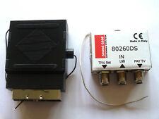 Commutatore 80260DS per Doppio Decoder Sky HD + TivùSat o altri ricevitori