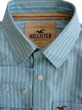 Hollister Camicia Da Uomo 16 S turchese – White Stripes