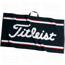 "New Titleist Staff Golf Towel 20"" x 40"" Black White Red TA9AC01 Staff Towel"