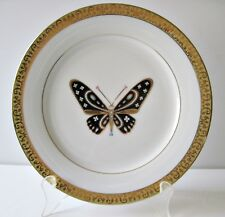 "Gold Buffet Royal Gallery 8 1/2"" Salad Plate Black Butterfly Gold Trim"
