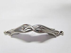 Möbelgriff Vintage Stil / Retro Französisch Silber für Lochabstand 64 mm