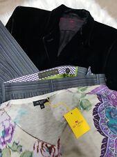 Women's ETRO VTG 100% Velvet Jacket Blazer It 46 US 10  Sweater 44 Pants 46 Lot