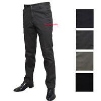 Pantalone Uomo Classico Tasca America Vita Alta 46 48 50 52 54 56 58 60 Invernal