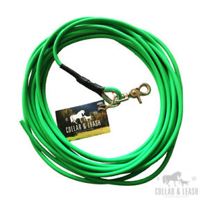Biothane Dog Lead Tracking Lead 1-15m Round 6mm Neon-Green