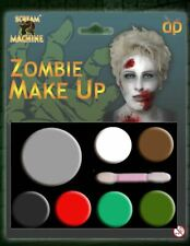 NEW ZOMBIE MULTI PALLET MAKEUP SCARY HALLOWEEN FACE PAINTING MAKE UP ACCESSORY
