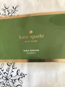 Kate Spade Snowflake Table Runner Holiday Christmas Silver Gold