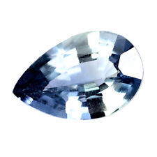 Certified Natural Unheated Ceylon Blue Sapphire 0.88ct VVS Sri Lanka Pear
