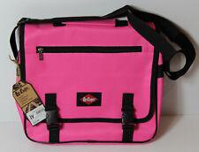 Lee Cooper Girls Pink Messenger Bag College University School Flight Shoulder