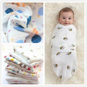 Bamboo Muslin Swaddle Blanket Baby Wrap Swaddle Newborn Pram Blanket
