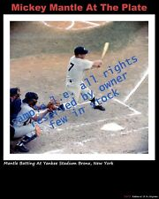 MICKEY MANTLE PHOTO SNAPSHOT 1960 5 BY 6 & 8 X 10 AT PLATE 1967 L.E. KO-DAK