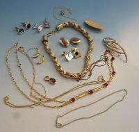 RS0220-145: Konvolut Modeschmuck Schmuck goldfarben