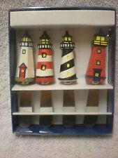 Boston Warehouse Set of 4 Stainless Steel Lighthouse Spreader Knives / Nautical