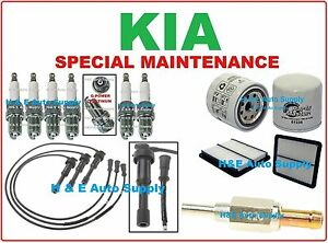 FOR 03-06 KIA SORENTO V6-3.5L TUNE UP KITS: SPARK PLUGS, WIRE SET &  FILTERS