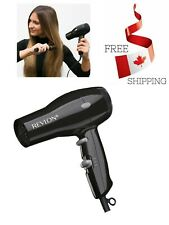 Quick Dry N Style 1875W Compact & Lightweight Black Hair Dryer W/ 2 Heat Setting