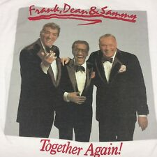 Vintage Frank Dean Sammy T-Shirt Thin Soft Sinatra Martin Davis Concert Tour Rat