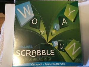 BNIB, Travel SCRABBLE, compact board game from Mattel