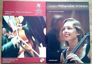 Individual London Philharmonic Orchestra programmes, 1940s-2010s LPO programme