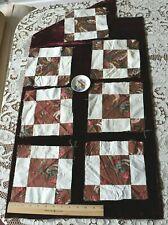 7 Rare American 18thC Block Printed & Resist Cotton Quilt Squares c1780-1790