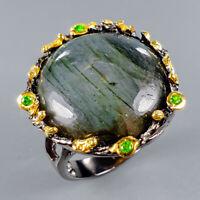 Labradorite Ring Silver 925 Sterling Handmade26ct+ Size 7.5 /R130608