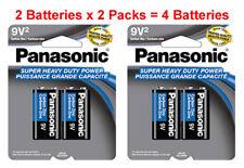 4x Panasonic Heavy Duty 9 Volt 9V Batteries Carbon Zinc 9V2 x 2