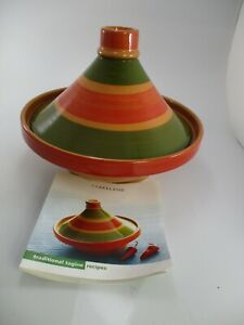 TRADITIONAL MOROCCAN TAGINE BY LAKELAND WITH RECIPE BOOK
