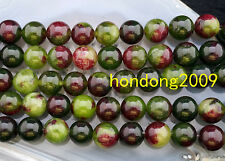 """Natural 10mm  Green Colorful agate Round Gems Loose Beads 15"""""""