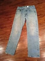 MENS LEVI'S 501 BUTTON FLY JEANS SIZE 32X32 WPL-423